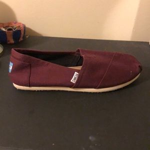 Toms Shoes - Maroon TOMS - never worn